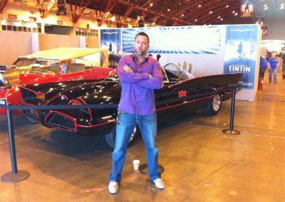 James Bamford with Batmobile