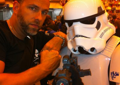 James Bamford with Stormtrooper